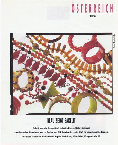 Orth Blau zeigt Bakelit